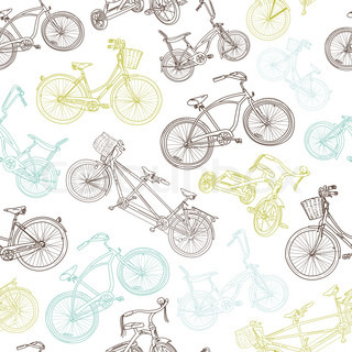 Seamless bicycle background
