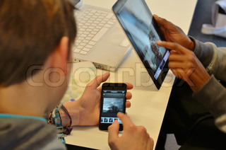 iPad and iPhone in use by students