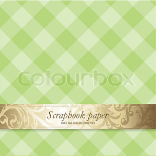 Greeting card background or scrapbook paper with copy space