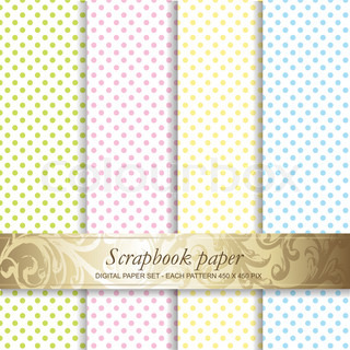 Colorful Backgrounds set - Scrapbook paper