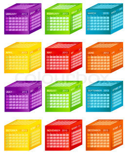Calendar 2013 Vector Illustration