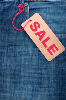 Jeans With Sale Tag
