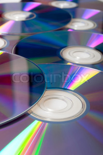 Background of Many Shiny CD Compact Disc