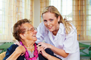 home care of the old lady