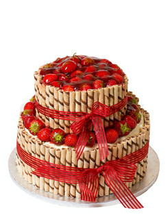 Traditional strawberry cake