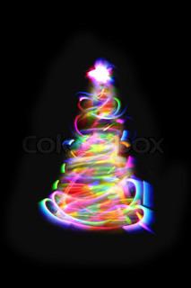 christmas lights as xmas tree