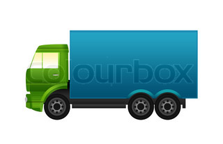 Truck illustration icon on white background