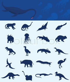 Collection of a dinosaur