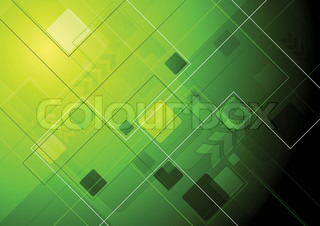 Green technology background with arrow Eps 10 vector