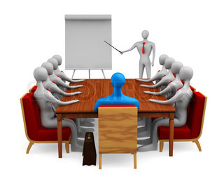 Group of persons on the marketing meeting