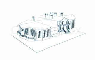house: 3dtechnical draw