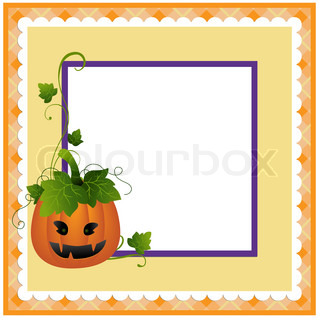Blank template for Halloween postcard