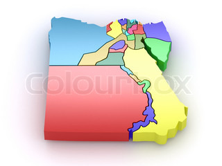 Three-dimensional map of Egypt 3d