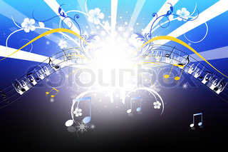 Digital illustration of musical color in abstract background