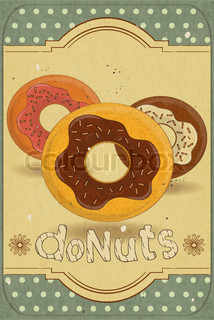 Donuts on Retro Card