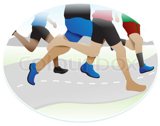 Running, illustration