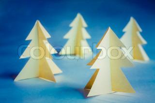 Cardboard Christmas Trees
