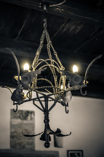 Gothic chandelier in a castle