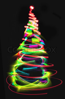 christmas lights as xmas tree