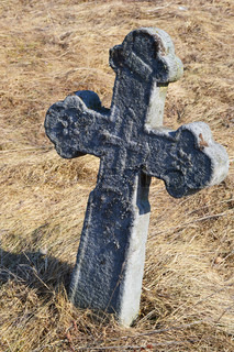 Old stone grave cross