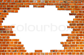 Red Brick Wall Texture with hole