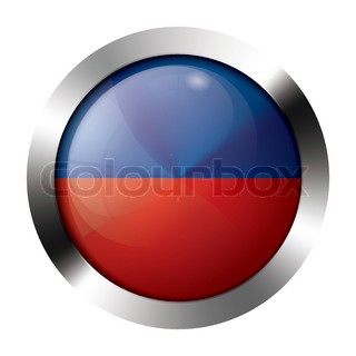 Metal and glass button - flag of liechtenstein - europe