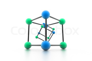 abstract molecule structure on white background