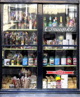 window of a candy store