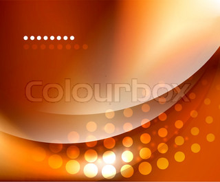 Shiny smooth blurred wave background