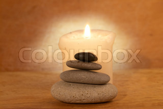 Spa concept with a candle