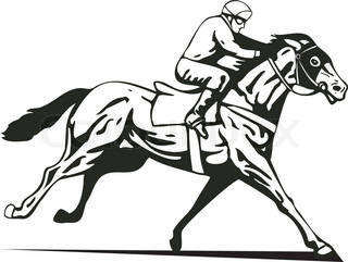Watch more like Racing Horse Head Clip Art Black And White