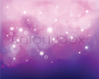 Pink shine background with stars Vector
