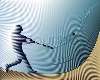 Sports Baseball background from Lines