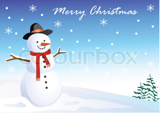 Snowman cartoon background