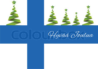Merry Christmas background,vector,Finland