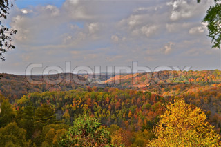 View from the Devil's Pulpit Caledon Ontario