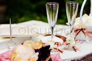 Wedding wineglasses