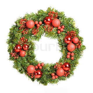 Decorative christmas wreath