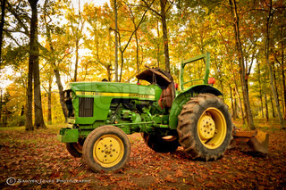 I just love the Fall weather, the colors and everything else that comes with it. I thought I would share this picture of my neighbors tractor that I got the other day! Hope you Enjoy! Sawyer Jones Photography