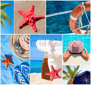 Collage of beautiful summer photos -Summer vacation concept