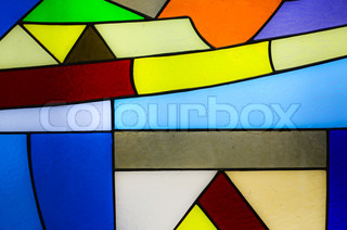 Church window and colorful mosaic