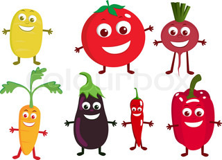 Vegetable cartoon character