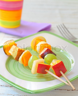 kebab fruit on stick