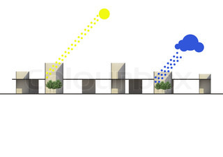 A concept of weather related with architecture