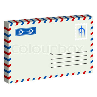 Whiteenvelope with stamp Vector illustration