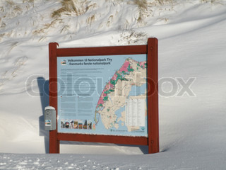 Thy National Park sign in snow
