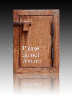 what does do not disturb do on the iphone do not disturb sign stock photo colourbox 21446
