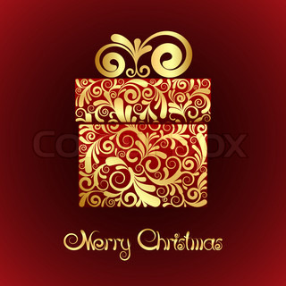 Gift box with gold ornament