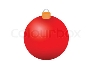 Red christmas bauble illustration