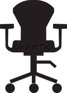 Swivel chair icon,furniture icon,office,room